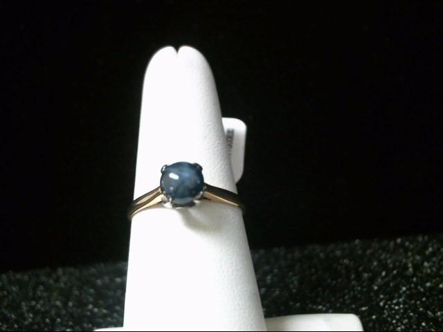 Blue Stone Lady's Stone Ring 14K Yellow Gold 1.8g Size:7