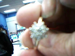 Lady's Diamond Cluster Ring 8 Diamonds .48 Carat T.W. 10K Yellow Gold 2.3g