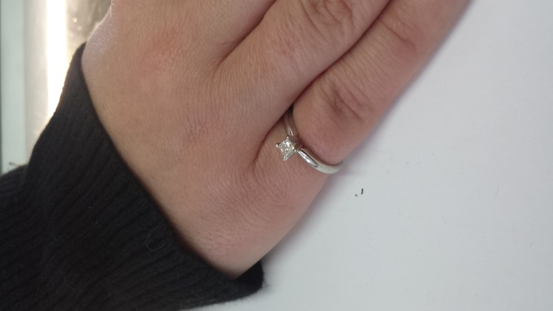Lady's Diamond Engagement Ring .30 CT. 10K White Gold 1.8g