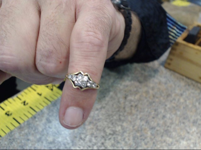 Lady's Diamond Engagement Ring 8 Diamonds .74 Carat T.W. 14K Yellow Gold 1.8dwt