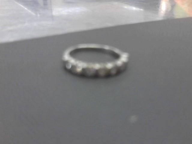 Lady's Diamond Fashion Ring 7 Diamonds .70 Carat T.W. 14K White Gold 4.1g