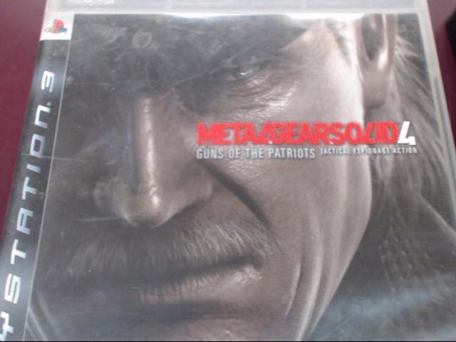 SONY PS3 METAL GEAR SOLID 4