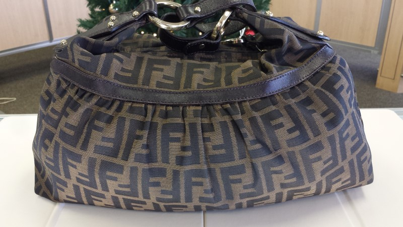 FENDI Handbag MONOGRAM HOBO SHOULDER BAG