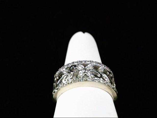 Lady's Diamond Fashion Ring 36 Diamonds .44 Carat T.W. 10K White Gold 3.8g