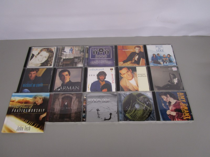LOT OF 15 CHRISTIAN, PRAISE, AND WORSHIP MUSIC COMPACT DISCS CDS, AMY GRANT