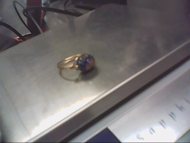 Lady's Silver Ring Vermeil 1.9g