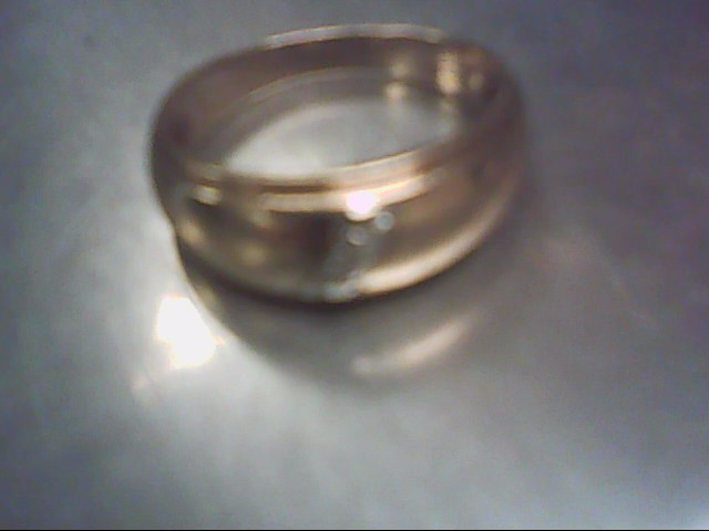 Lady's Diamond Fashion Ring 3 Diamonds .03 Carat T.W. 14K Yellow Gold 5g