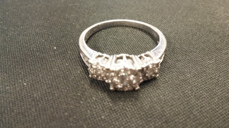 Lady's Diamond Fashion Ring 33 Diamonds .55 Carat T.W. 14K White Gold 3.2dwt