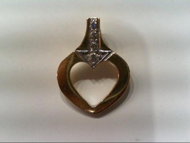 Gold-Multi-Diamond Pendant 4 Diamonds .06 Carat T.W. 14K Yellow Gold 1.4g
