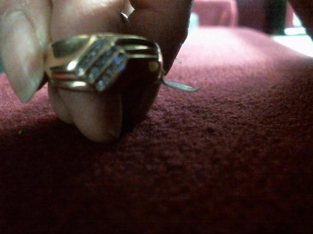 Gent's Diamond Fashion Ring 15 Diamonds .15 Carat T.W. 10K Yellow Gold 4.1dwt