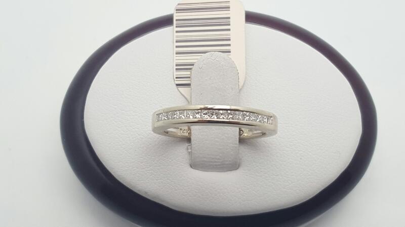 Lady's Gold-Diamond Anniversary Ring 17 Diamonds .34 Carat T.W. 14K White Gold