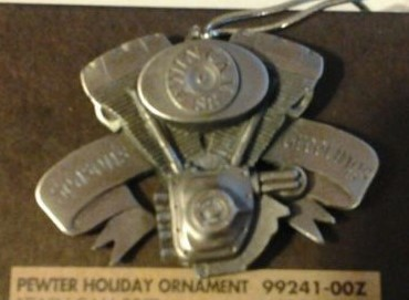 HARLEY DAVIDSON 99241-00Z, PEWTER TWIN CAM ORNAMENT