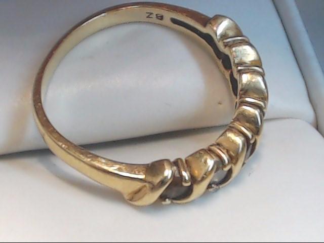 White Stone Lady's Stone Ring 10K Yellow Gold 3.1g Size:8.5