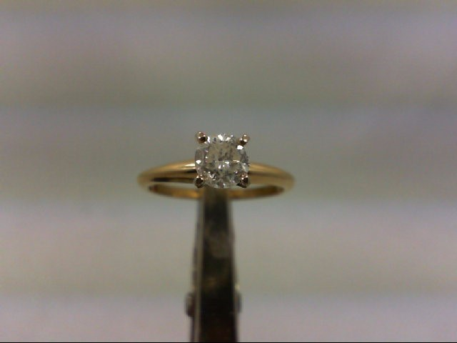 Lady's Diamond Solitaire Ring .45 CT. 14K Yellow Gold 1.8g