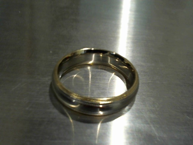Gent's Gold Wedding Band 14K 2 Tone Gold 8g