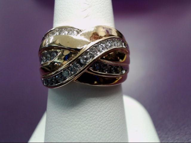 Lady's Diamond Fashion Ring 25 Diamonds .50 Carat T.W. 14K Yellow Gold 7.3g