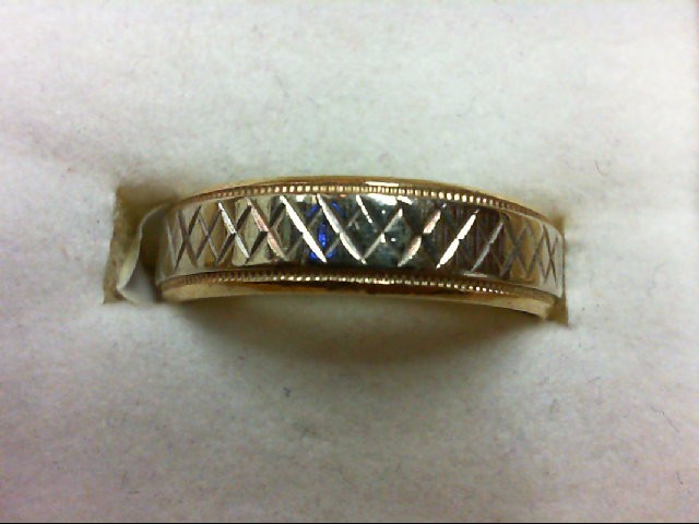 Gent's Gold Wedding Band 14K 2 Tone Gold 3.7g Size:8