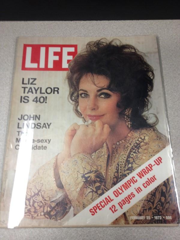 LIFE MAGAZINE VINTAGE 1972 TAYLO