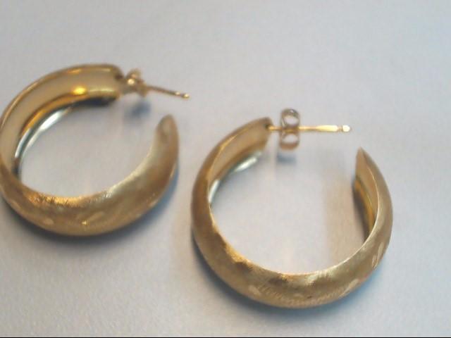 Gold Earrings 14K Yellow Gold 3.9g