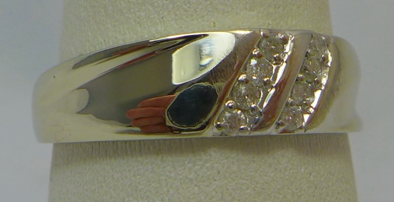 Gent's Gold Ring 10K White Gold 4.6g Size:11