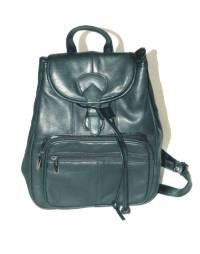 DEALER LEATHER L9; BLACK LEATHER SHOULDER BAG