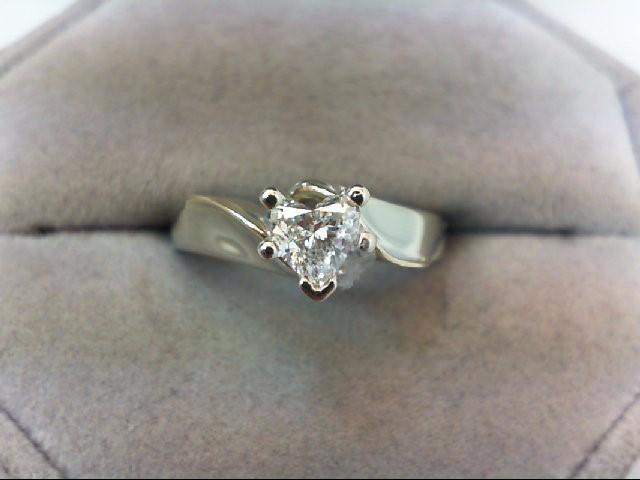 Lady's Diamond Engagement Ring .50 CT. 14K White Gold 3.67g