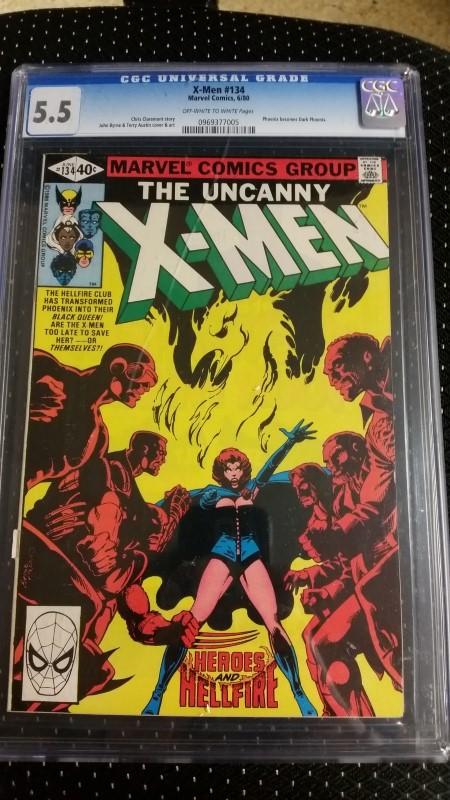 X-Men #134 1980 06/80 CGC 5.5 OW/W Pages Marvel Comics