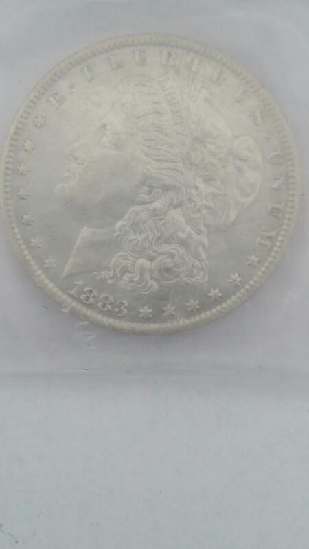 UNITED STATES SILVER  COIN 1883 0 MORGAN MS 64 IGA