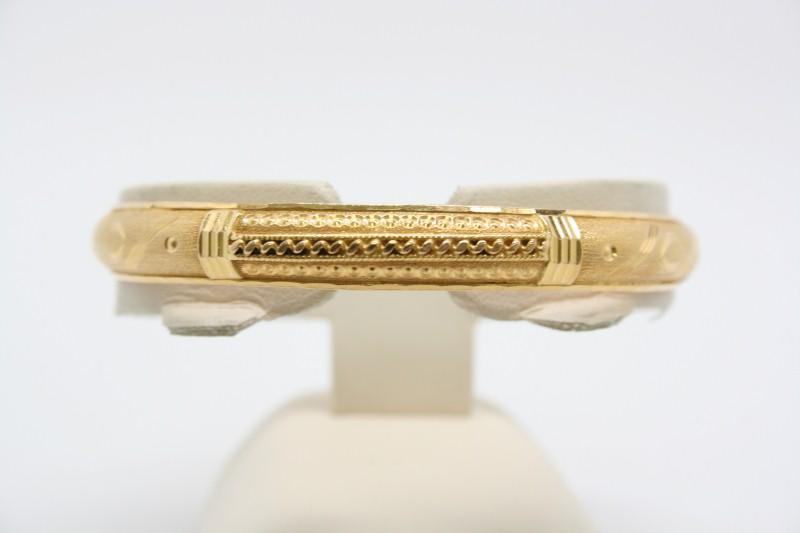 FASHION STYLE 22K YELLOW GOLD BANGLE BRACELET