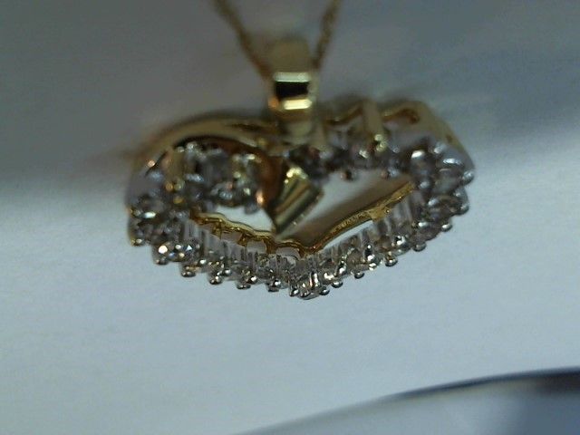Diamond Necklace 20 Diamonds .60 Carat T.W. 14K Yellow Gold 3.5g