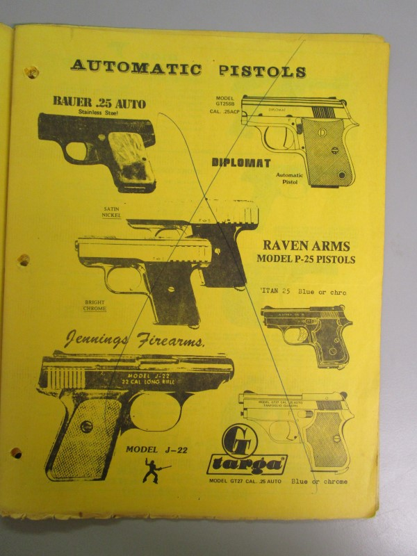 LOT OF 3 UNITED FIREARMS CATALOGS, DATES BETWEEN 1982 - 1985