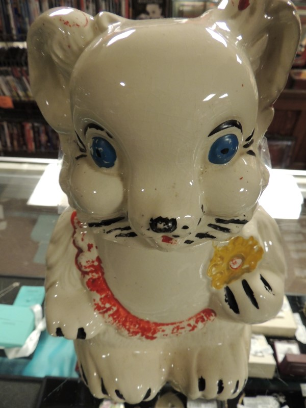 ROYAL WARE BEAR COOKIE JAR 1950s MARKED