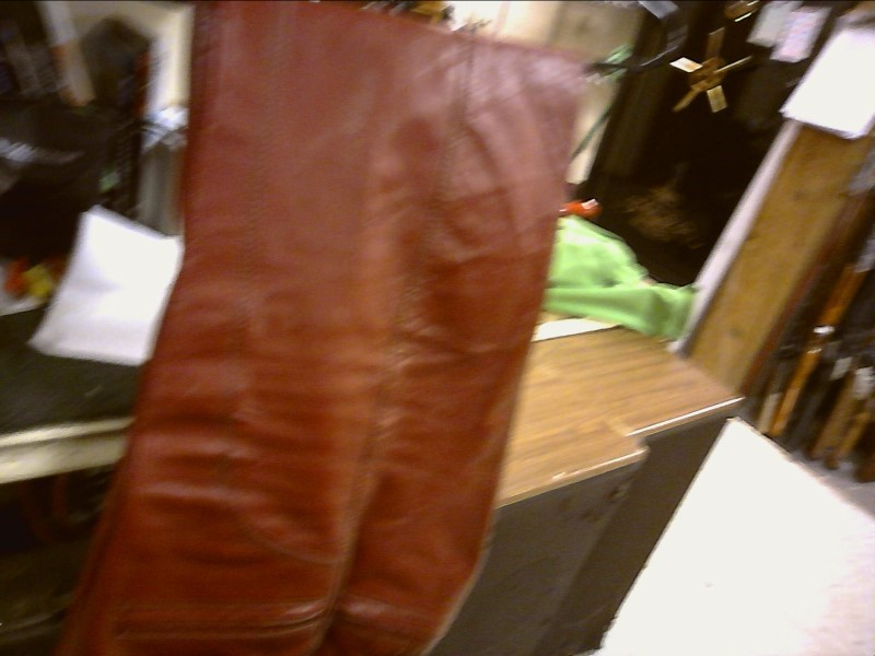 USED LEATHERS CYCLE-LEATHERS CYCLE-LEATHERS BRISTOL SZ 8; RED/BROWN LEATHER PANT