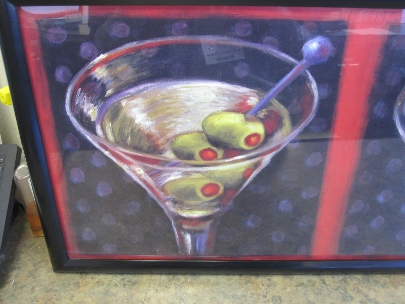 OZELLO Print MARTINI GLASS
