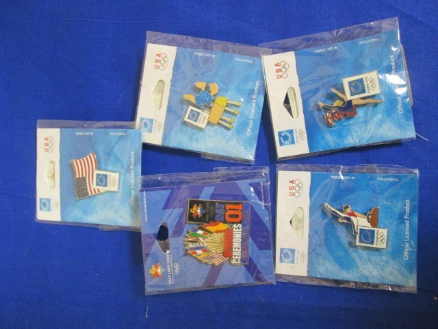 5 NEW ASSORTED 2002 & 2004 OLYMPICS PINS