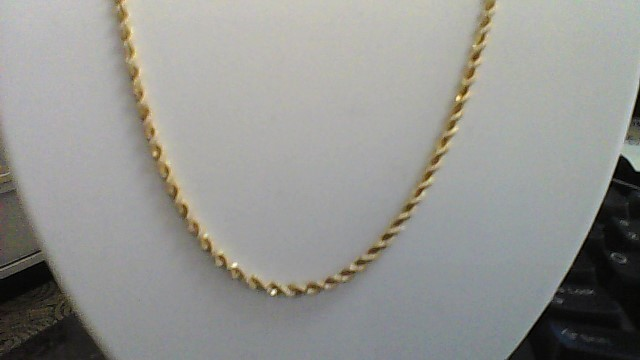 "18"" Inch Yellow Gold Rope 14k Chain Necklace Yellow Gold"