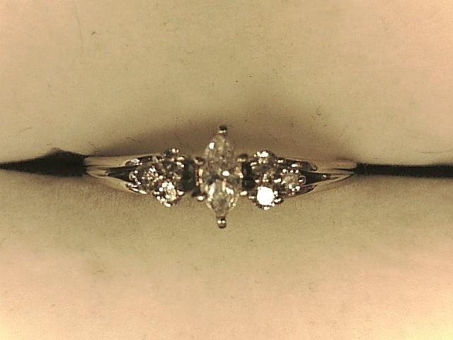 Lady's Platinum-Diamond Wedding Band 7 Diamonds .38 Carat T.W. 950 Platinum