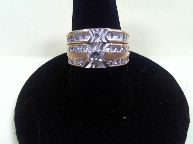 Lady's Diamond Wedding Set .20 CT. 18K Yellow Gold 5.6g