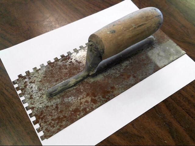Cement Hand Tool SQUARE NOTCHED TROWEL