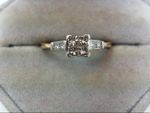 Lady's Diamond Wedding Set 8 Diamonds .72 Carat T.W. 14K Yellow Gold 2.9g
