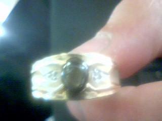 Black Stone Gent's Stone Ring 10K Yellow Gold 7.17g