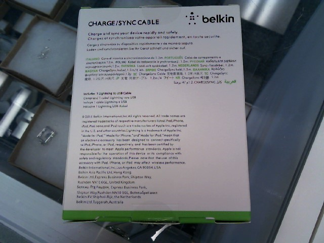 BELKIN Cell Phone Accessory CHARGE SYNC CABLE
