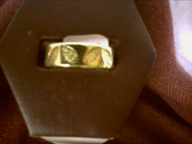 GOLD BAND WITH LEAF ETCHING SIZE 9