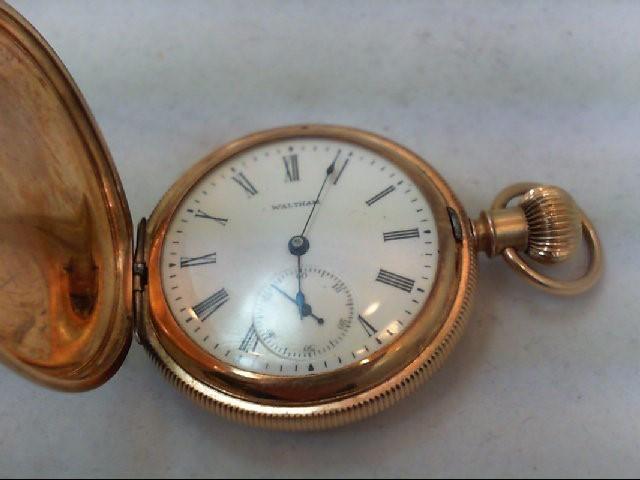 14KT WALTHAM '1898' POCKET WATCH