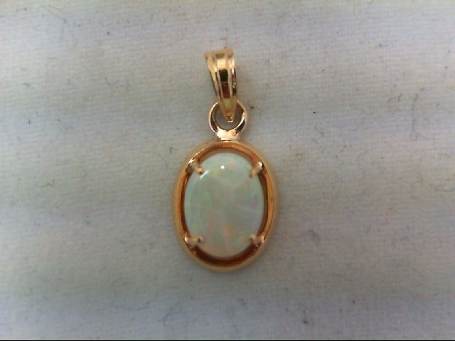 Opal Gold-Stone Pendant 14K Yellow Gold 0.8g