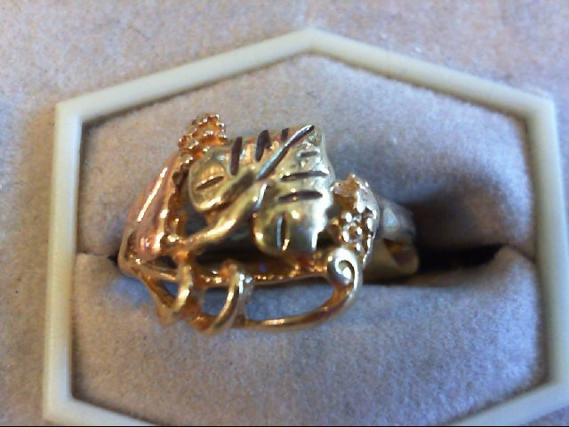 Lady's Gold Ring 10K 2 Tone Gold 3.1g Size:7