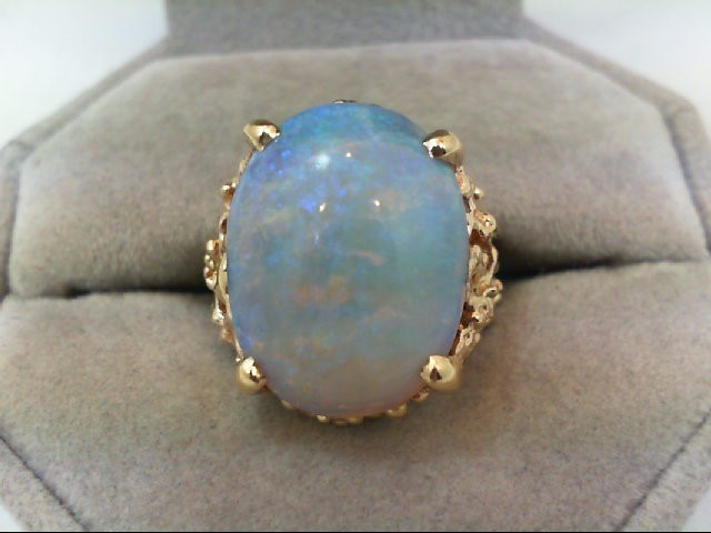 Opal Lady's Stone Ring 14K Yellow Gold 8.9g