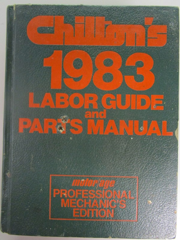 CHILTON'S 1983 LABOR GUIDE AND PARTS MANUAL
