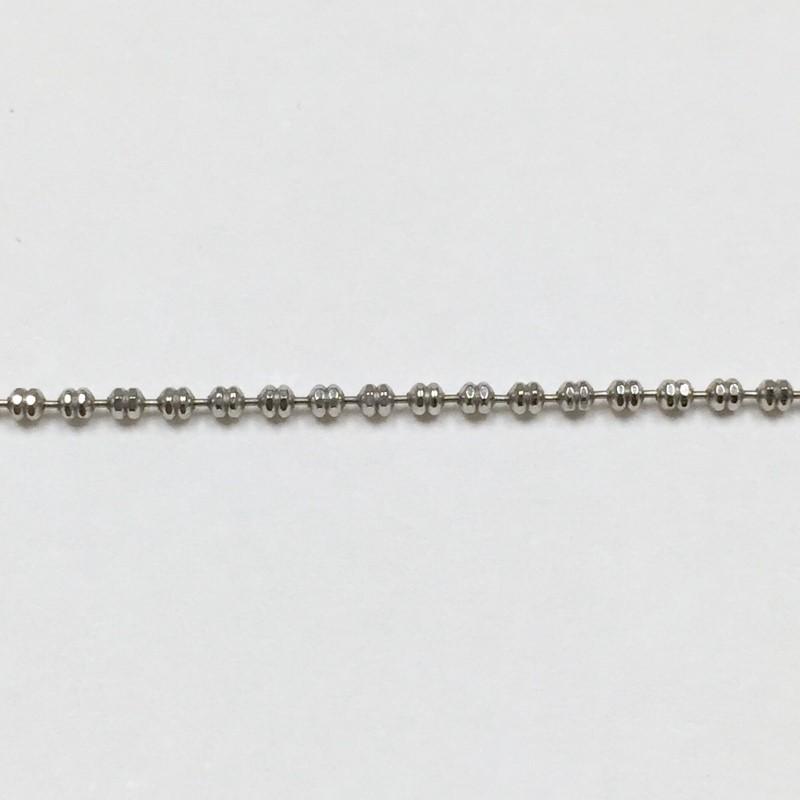 """17"""" Gold Fashion Chain 14K White Gold 2.4dwt"""