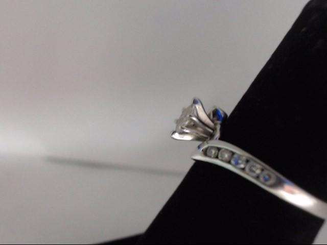 Lady's Diamond Engagement Ring 11 Diamonds 0.3 Carat T.W. 14K White Gold 3g